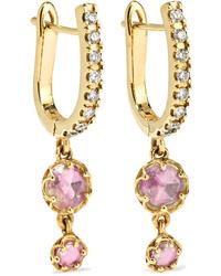 Larkspur & Hawk Ivy 14 Karat Gold Diamond Earrings