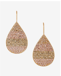 Express Pave Ombre Teardrop Earrings