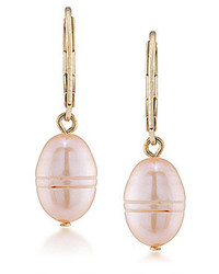 Carolee Radio City Pearl Drop Earrings