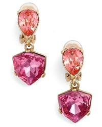Shield crystal clip earrings medium 758022
