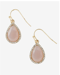 Express Teardrop Rhinestone Earrings