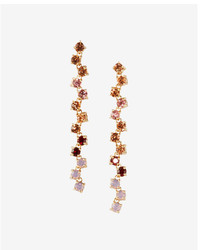 Express Zigzag Multicolor Stone Linear Drop Earrings