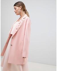 ASOS DESIGN Embellished Collar Coat