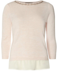 Blush embellished 2 in 1 jumper medium 172294