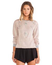 Hemant And Nandita Pop Melange Woolen Sweatshirt