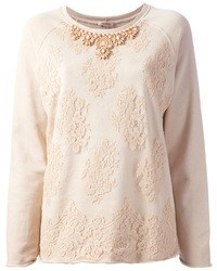 P.A.R.O.S.H. Floral Lace Sweater
