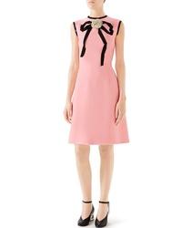 Gucci Cady Crepe Bow A Line Dress