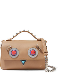 Fendi Double Baguette Micro Embellished Leather Shoulder Bag Baby Pink