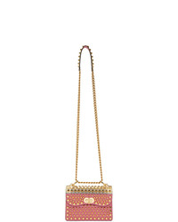 Prada Pink Studded Shoulder Bag