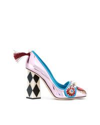 Dolce & Gabbana Jackie Pumps With Bejewelled Appliqu