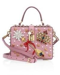 Miss dolce crown embellished leather top handle bag medium 3639823