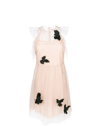 RED Valentino Mesh Butterfly Embellished Dress