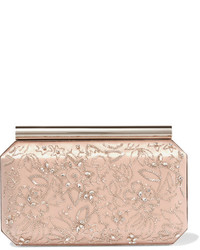 Saya embellished satin clutch blush medium 1044718