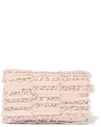 Embellished georgette clutch pink medium 819051