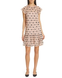 RED Valentino Sequin Drop Waist Dress