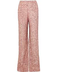 Jenny Packham Sequined Chiffon Wide Leg Pants