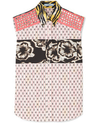 Prada Printed Cotton Poplin Shirt