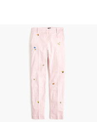 J.Crew Petite Cropped Pant In Embroidered Chino