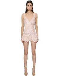 Ermanno Scervino Embroidered Lace Romper