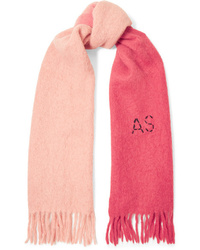 Acne Studios Kelow Two Tone Embroidered Felt Scarf