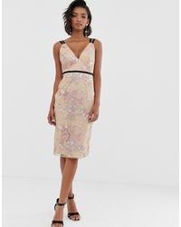 ASOS DESIGN Occasion Pencil Midi Dress In Embroidery
