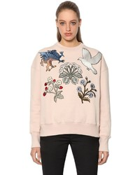 Alexander McQueen Cotton Sweatshirt W Embroidered Patches