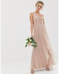 ASOS DESIGN Bridesmaid Soft Layer Maxi Dress With One Shoulder
