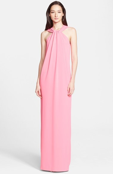 St. John Collection Lightweight Crepe Cady Halter Gown | Where to ...