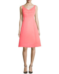 Kate Spade New York Sleeveless Structured Fit And Flare Dress Surprise Coral