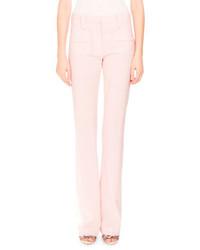 Altuzarra Serge Zip Front Flare Leg Pants Shell Pink