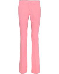 Gucci Stretch Wool Bootcut Pants Pastel Pink