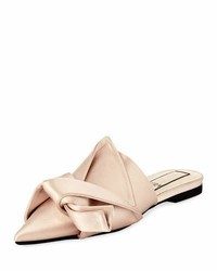 No.21 No 21 Knotted Satin Point Toe Flat