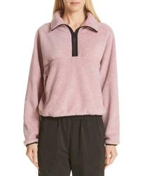Sandy Liang Bean Quarter Zip Fleece Pullover