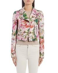 Dolce & Gabbana Floral Brocade Biker Jacket