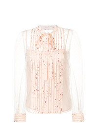 RED Valentino Bow Tie Sheer Blouse