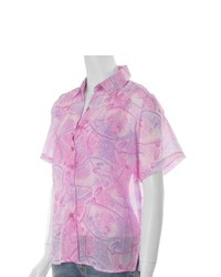 Cassee Collection Cassees Pink 2 Piece Blouse And Shell Set