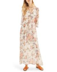 Crinkle floral maxi dress medium 4401317