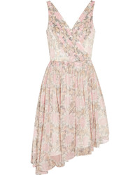 Elizabeth and James Manette Floral Print Silk Chiffon Mini Dress