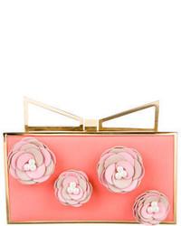 Sara Battaglia Pink Floral Lady Me Clutch