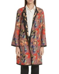 Etro Tiger Floral Jacquard Reversible Topper