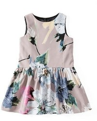 Milly Minis Sleeveless Paper Floral Party Dress Petal Size 4 7