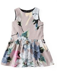 Milly Minis Sleeveless Paper Floral Party Dress Petal Size 8 14