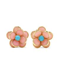 Guita M 18 Karat Gold Opal And Turquoise Earrings