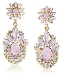 Carolee Gemstone Garden Dramatic Drop Clip On Earrings