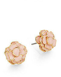 Saks Fifth Avenue Enamel Flower Stud Earrings