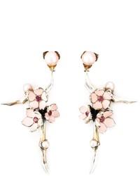 Sterling silver cherry blossom rhodolite earrings medium 268756