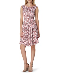 Tahari Floral Print Fit Flare Dress