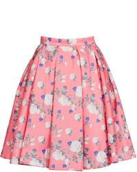 Pink Floral Full Skirt