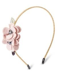 Capsule By Cara Soft Floral Headband Pink Rose