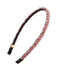 Cara Twisted Headband Pink